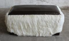 Costantini Design Ovino Contemporary Leather and Sheepskin Bench from Costantini Customizable - 406232