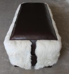Costantini Design Ovino Contemporary Leather and Sheepskin Bench from Costantini Customizable - 406233