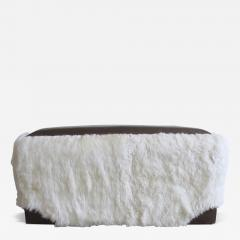 Costantini Design Ovino Contemporary Leather and Sheepskin Bench from Costantini Customizable - 407037