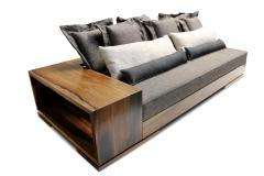 Costantini Design Patone Custom Modern Sofa in Rosewood with Shelving from Costantini - 405828