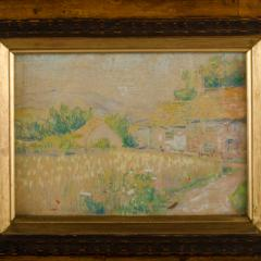 Country Cottage unsigned painting - 2128916