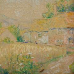 Country Cottage unsigned painting - 2128945