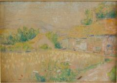 Country Cottage unsigned painting - 2130859