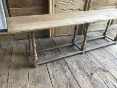 Country Pine Trestle Table 19th Century - 356854