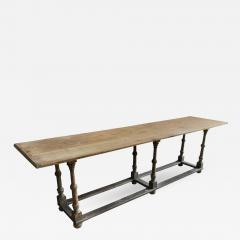 Country Pine Trestle Table 19th Century - 378130