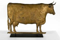 Cow Weathervane Excellent Scale Great Boxy Form with Gilded Surface - 594051