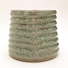 Crackled Celadon Mizusashi - 342343