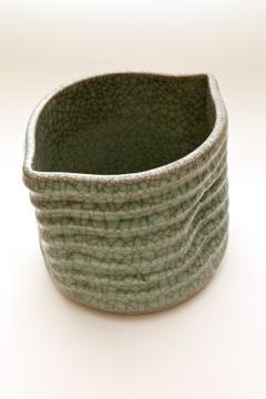 Crackled Celadon Mizusashi - 342344
