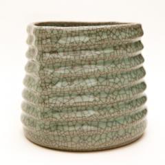 Crackled Celadon Mizusashi - 342345