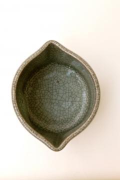 Crackled Celadon Mizusashi - 342346