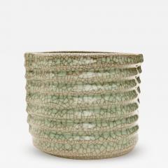 Crackled Celadon Mizusashi - 342741