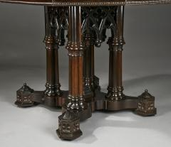 Crawford Ridell Philadelphia Gothic Center Table Circa 1845 - 326896