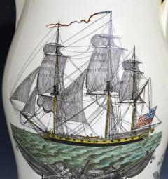 Creamware Large Ship Jug for American Market American Ship Liverpool - 1635692