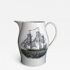 Creamware Large Ship Jug for American Market American Ship Liverpool - 1637692