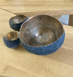 Cristina Salusti Set of 3 ceramics with platinum and gold by Cristina Salusti - 1059507