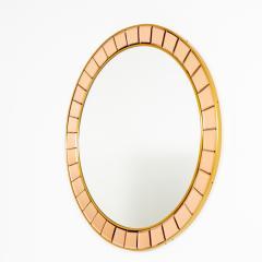 Crystal Arte Mid Century Round Wall Mirror - 1861012
