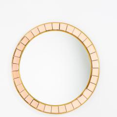 Crystal Arte Mid Century Round Wall Mirror - 1861034