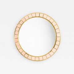 Crystal Arte Mid Century Round Wall Mirror - 1864276