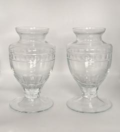 Crystal Vases American 20th Century A Pair - 1455142