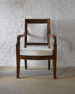 Cuban Mahogany Open Arm Chairs - 796973
