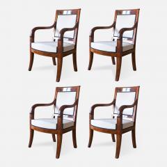 Cuban Mahogany Open Arm Chairs - 796975
