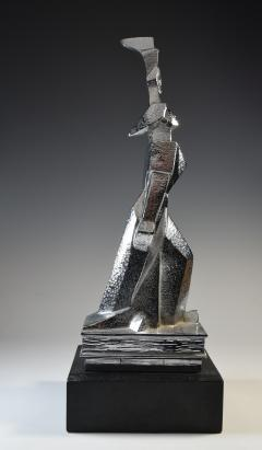Cubist Monument Bronze Sculpture Woman with a Torch - 1809108