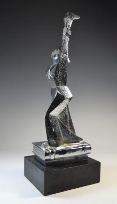 Cubist Monument Bronze Sculpture Woman with a Torch - 1809109