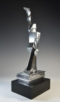 Cubist Monument Bronze Sculpture Woman with a Torch - 1809111