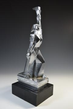 Cubist Monument Bronze Sculpture Woman with a Torch - 1809112