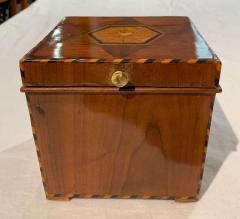 Cuboid Jewelry Box Walnut Ebony Mother of Pearl Austria Vienna circa 1830 - 1612322