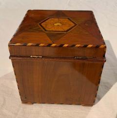 Cuboid Jewelry Box Walnut Ebony Mother of Pearl Austria Vienna circa 1830 - 1612324