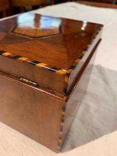 Cuboid Jewelry Box Walnut Ebony Mother of Pearl Austria Vienna circa 1830 - 1612335