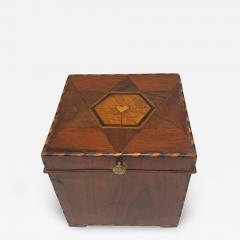 Cuboid Jewelry Box Walnut Ebony Mother of Pearl Austria Vienna circa 1830 - 1614863
