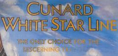 Cunard White Star Line R M S QUEEN MARY Moet Chandon Original Advertising Art - 617072
