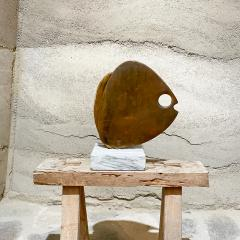 Curtis Jer 1970s C Jere Modernist Abstract Sculpture Two Bronze Fish Marble Base Mount - 2038332