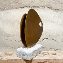 Curtis Jer 1970s C Jere Modernist Abstract Sculpture Two Bronze Fish Marble Base Mount - 2038339