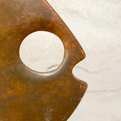 Curtis Jer 1970s C Jere Modernist Abstract Sculpture Two Bronze Fish Marble Base Mount - 2038340