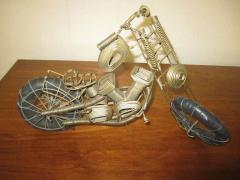 Curtis Jer Awesome C Jere Mid Century Modern Style Wire Mototcycle Metal Sculpture - 1843547