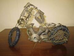 Curtis Jer Awesome C Jere Mid Century Modern Style Wire Mototcycle Metal Sculpture - 1843548
