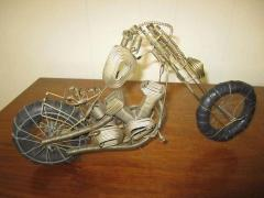 Curtis Jer Awesome C Jere Mid Century Modern Style Wire Mototcycle Metal Sculpture - 1843554