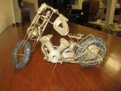 Curtis Jer Awesome C Jere Mid Century Modern Style Wire Mototcycle Metal Sculpture - 1843555