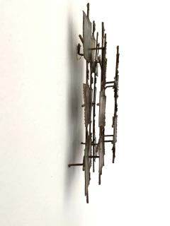 Curtis Jer Brutalist Bronze Copper Brass and Steel Wall Sculpture 1970 Signed MONK - 1624001