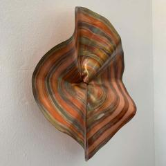 Curtis Jer C Jere Acid and Torch Etched Copper Wall Sculpture 2003 USA - 1626275