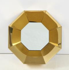 Curtis Jer C Jere Faceted Brass Mirror signed - 1576167