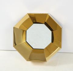 Curtis Jer C Jere Faceted Brass Mirror signed - 1576168