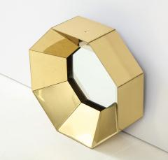 Curtis Jer C Jere Faceted Brass Mirror signed - 1576170
