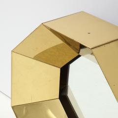 Curtis Jer C Jere Faceted Brass Mirror signed - 1576174