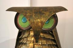 Curtis Jer Curtis Jere Brass Owl Sculpture circa 1969 - 945583