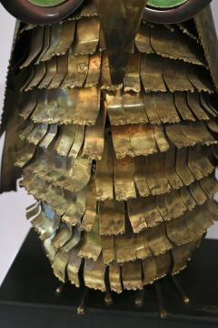 Curtis Jer Curtis Jere Brass Owl Sculpture circa 1969 - 945587