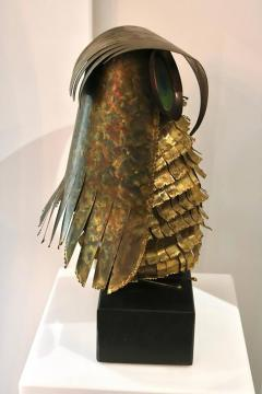 Curtis Jer Curtis Jere Brass Owl Sculpture circa 1969 - 945588